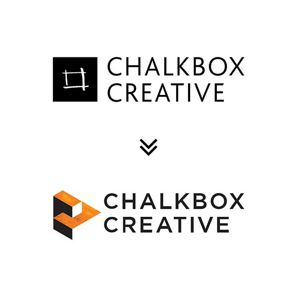 Chalkbox logo before and after